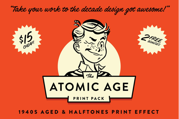 Brandon Grotesque in use on the Atomic Age Print Pack