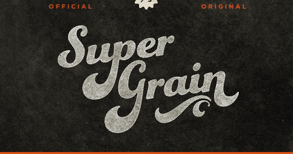Funkidori font in use on SuperGrain cover